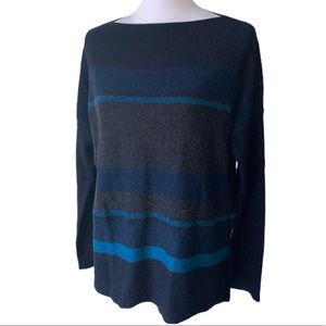 Vince Boat Neck Wool-Cashmere Blend Sweater Small